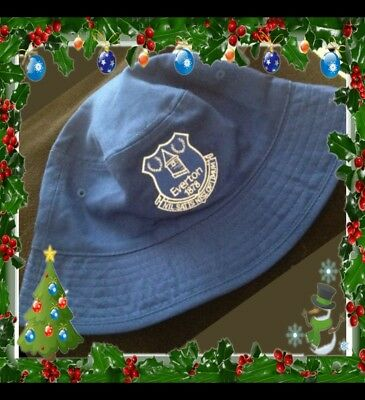 Official Everton Reversible Sun Hat/Fishermans Hat Royal & White Adults
