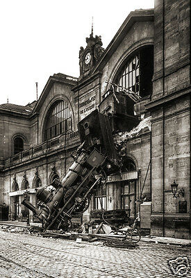 Accident ferroviaire 1895 Train Gare Montparnasse Paris - repro photo ancienne