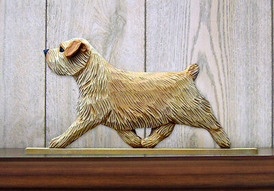 Norfolk Terrier Dog Figurine Sign Plaque Display Wall Decoration Wheaten