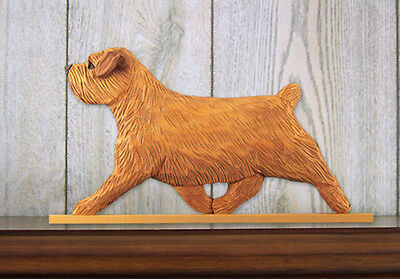 Norfolk Terrier Dog Figurine Sign Plaque Display Wall Decoration Red