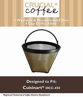 REPL Cuisinart GTF4 Gold Tone Coffee Filter Cuisinart Part # DCC-450 Large