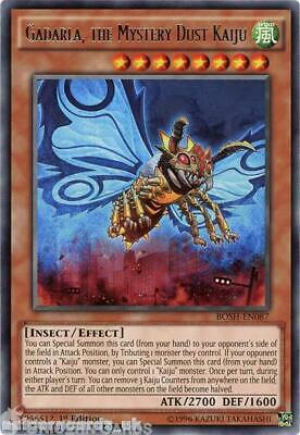 BOSH-EN087 Gadarla, the Mystery Dust Kaiju Rare 1st edition Mint YuGiOh Card