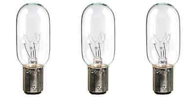 Three Bulbs 25T8DC Clear 25 Watt 120 Volt Bayonet Base BA15d 25W Microwave etc