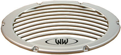 Marine Auido Silver Subwoofer Grille Enclosure Box Vent Waves & Wheels MSG-S