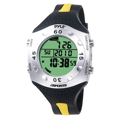 Pyle Sport PSWDV60Y New Dive Meter Watch W/ Dive Log Chronograph Alarm - Yellow