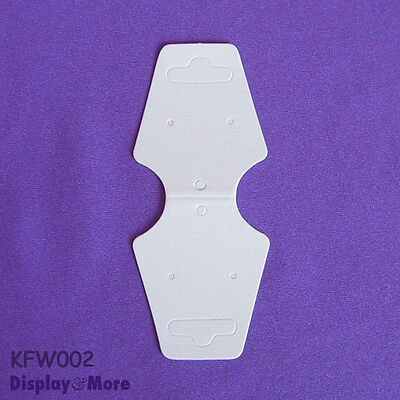 200 Necklace Bracelet Jewellery Folding Card-4x9.5cm-Blank White | AUSSIE Seller