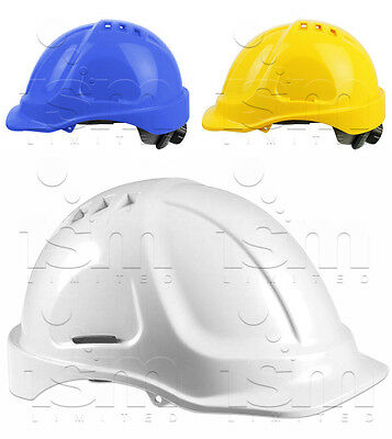 RHINOtec Vented & Adjustable ABS Helmet Protective Safety Workwear Hard Hat