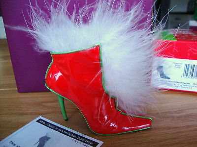 Just The Right Shoe - Mrs Claus's Snowflake Surprise 2nd Annual xmas Shoe #25356