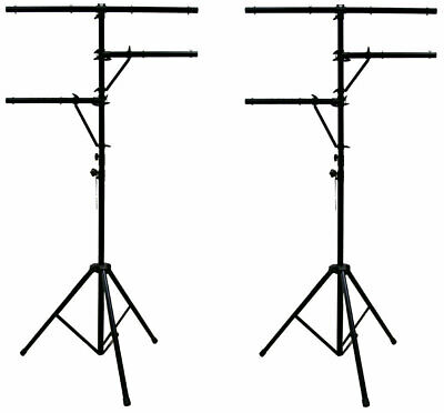 (2) Pro Audio DJ Multi Arm 8 Bolt Lighting 12 Foot Tripod Light Stand Package