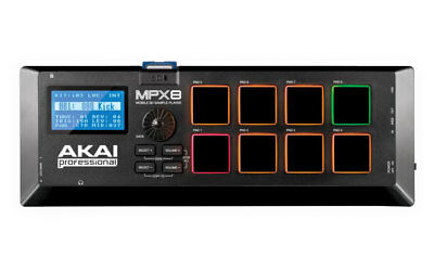 Akai Professional MPX8 Mobile Sd Sample Player With 8 Pressure-Sensitive Pads