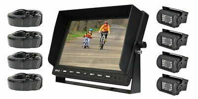 "Pyle PLCMTR104 Dual Dc Volt Truck Rear View Camera W/ 10.1"" Tft Lcd Monitor New"