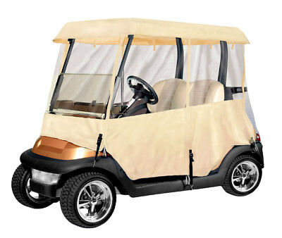 Armor Shield 2 Passenger Golf Cart 4 Sided Tan Color Enclosure New