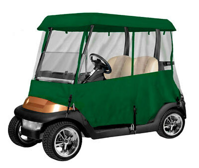 Armor Shield 2 Passenger Golf Cart 4 Sided Enclosure Olive Color