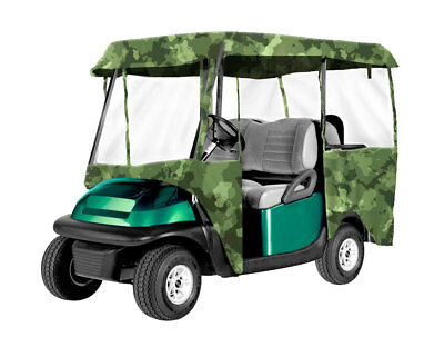 Armor Shield 4 Passenger Golf Cart 4 Sided Enclosure Camouflage