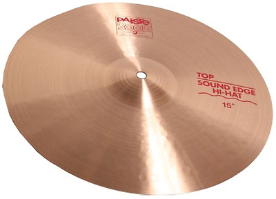 "Paiste 1063215 15"" 2002 Series Sound Edge Top Hi-Hat Cymbal With Medium Sustain"