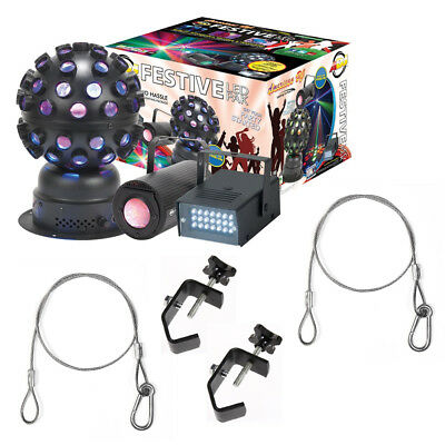 American DJ Festive LED Pak Effects Light Fixture Package w/ Clamps & Harnesses