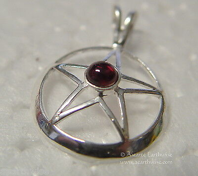 AMETHYST PENTAGRAM PENDANT Wicca Witch Reiki Pagan Goth PENTACLE