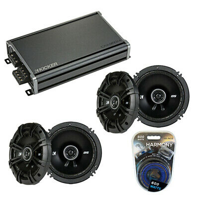 Fits Jeep Wrangler 2007-2014 Speaker Replacement Kicker (2) DSC65 & CX300.4 Amp