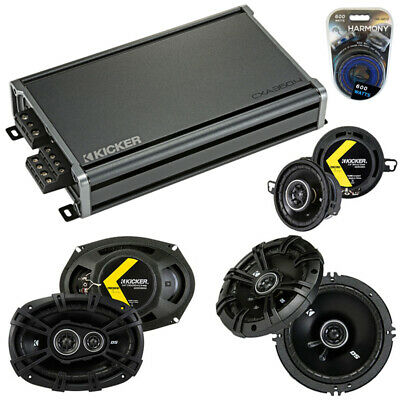 Fit Pontiac G8 2008-2009 Speaker Upgrade Kicker DSC65 DSC35 DSC693 & CX300.4 Amp