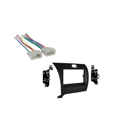 Fits Kia Forte 2014 Double DIN Aftermarket Car Harness Radio Install Dash Kit