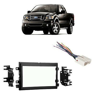 Fits Ford F-150 2004-2006 Double DIN Stereo Harness Radio Install Dash Kit