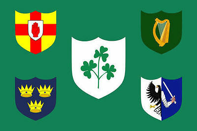IRELAND RUGBY FOOTBALL FLAG Irish Shamrock Ulster Connacht Leinster Munster IRFU