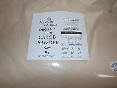 The Australian Carob Organic Carob Powder Raw 5Kg