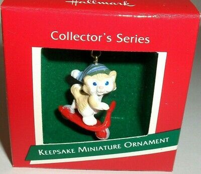 Kittens In Toyland`1989`Miniature-2nd In Series,Hallmark Christmas Ornament- New