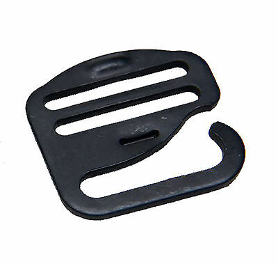 """25mm / 1"""" ITW Nexus Black G Hook - Military Specification Buckle"""