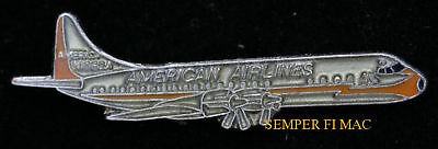 Electra L-188 Hat Lapel Pin Up American Airlines Pilot Crew Wing Gift Broach Wow
