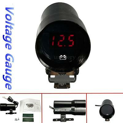 12V 37mm Coche LED Digital Voltage Meter Gauge voltímetro Medidores de voltaje