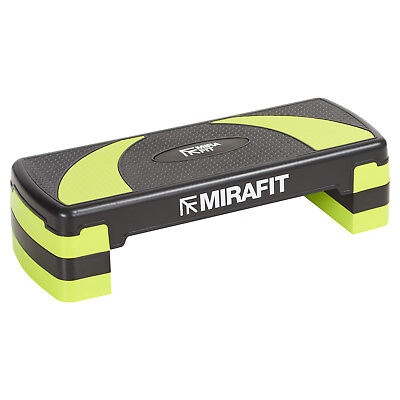 Mirafit Green Adjustable Aerobic Exercise Stepper Board Yoga/Workout/Gym Step