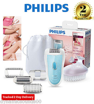 Philips Skincare System SatinSoft Wet & Dry Epilator Ladies Shaver HP6522/02