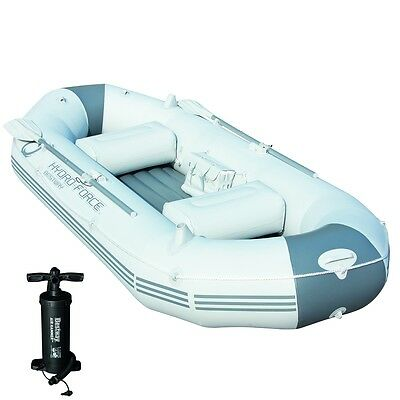 Bestway Marine Pro Barca Barco Inflable Hinchable Con Bomba Inflar/ Remos 291 cm