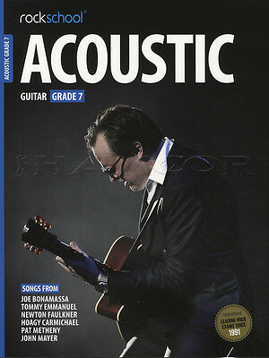 Rockschool Acoustic Guitar Grade 7 TAB Music Book with Audio Access Tests Exams