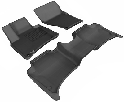 Tan Kagu Rubber 3D MAXpider Front Row Custom Fit All-Weather Floor Mat for Select Ford Mustang Models L1FR06511502