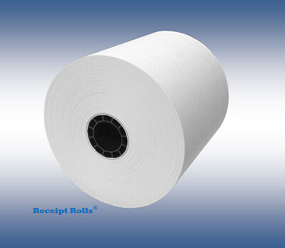 "3 1/8"" (80mm) x 230' Thermal Receipt Paper POS Register Rolls - 50 per case"