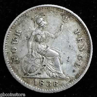 1836 William Iv Groat Fourpence Nice Higher Grade Good Detail Toned Spink 3837