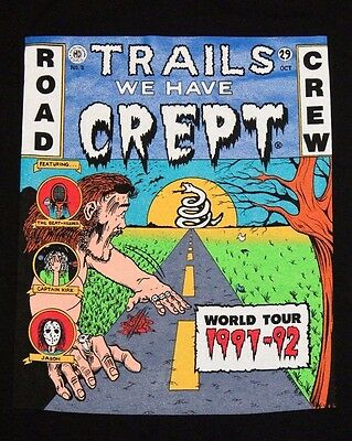 L * NOS vtg METALLICA Trails We Have Crept t shirt * world tour 1991 1992 *86.45