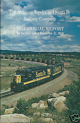 Railroad Annual Report - AT&SF - The Atchison Topeka and Santa Fe - 31/12/66