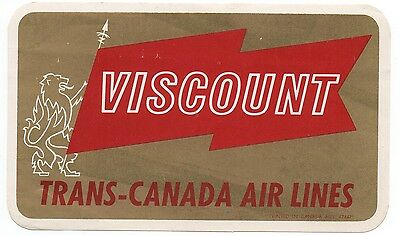 Old Luggage Label from Viscount Trans Canada Air Lines