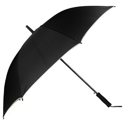 Automatic Open Black Long Handle Extra Large Windproof Anti-UV Sun Rain Umbrella