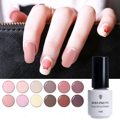 Born Pretty Nail Art Soak Off UV Gel Polish LED Lamp Manicure Nude Series 5ml