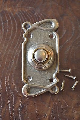 Art Nouveau style brass front doorbell push button bell pusher door bell Z1 • CAD $24.99