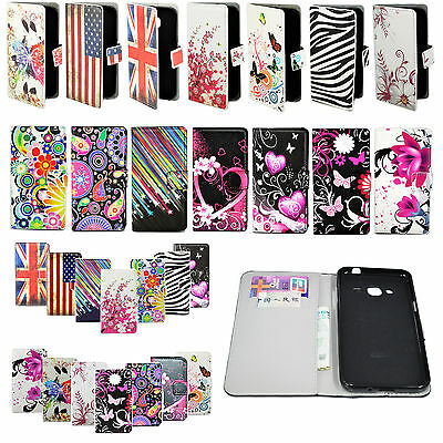 Magnetic Card Slot Leather Pocket Case Cover Stand For Samsung Galaxy Phones
