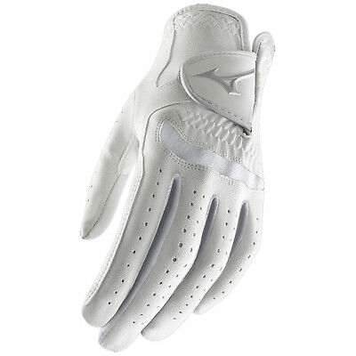 Mizuno Womens Comp Left Hand Golf Glove -New White Leather 2016 Right Handed