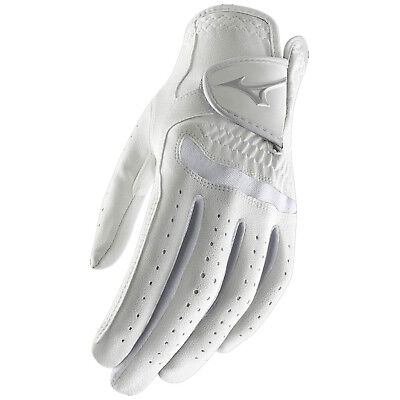 Mizuno Womens Comp Left Hand Golf Glove - New White Leather Right Handed 2017