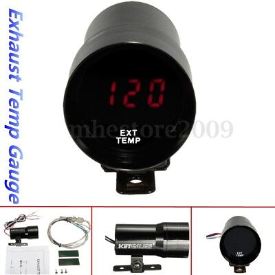 37mm Car Auto LED Exhaust Gas Temp Temperature Gauge EGT Meter Pointer Digital