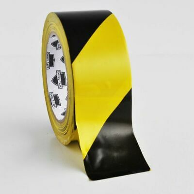 """(16 Rolls) Floor Marking Tape ^ PVC Safety Tapes / Black - Yellow 3 """" x 36 Yards"""