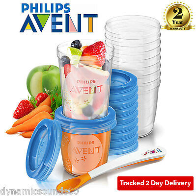 Philips AVENT SCF721/20 Toddler Mealtime Baby Food Storage Cups Set